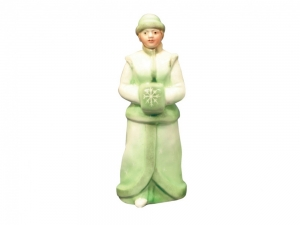 Lomonosov Porcelain Christmas New Year Figurine Green Snow Maiden