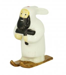 Russian Guerilla #2 with Tommy-Gun Lomonosov Porcelain Figurine