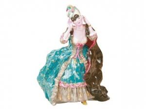 Lady with Mask Figurine Lomonosov Imperial Porcelain