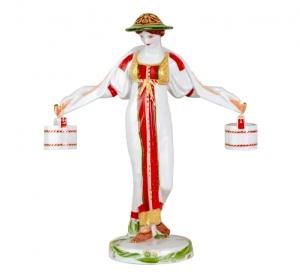 Vodonosk Woman Figurine Lomonosov Imperial Porcelain