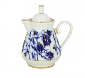 Lomonosov Porcelain Creamer Milk Jar BlueBells 7.4 oz/220 ml