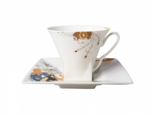 Bone China Cup and Saucer Feathers 8.45 oz/250 ml