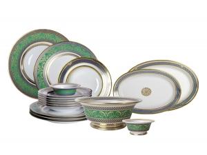 Porcelain Dinner Set Golden 52 24-piece