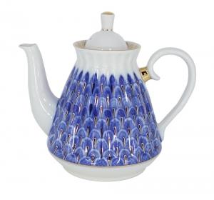Lomonosov Imperial Porcelain Forget Me Not 5 Cups Teapot 25.4 fl.oz/750 ml