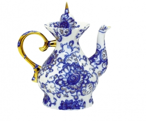 Lomonosov Imperial Porcelain Singing Garden 7-Cup Teapot 37.2 oz/1100 ml