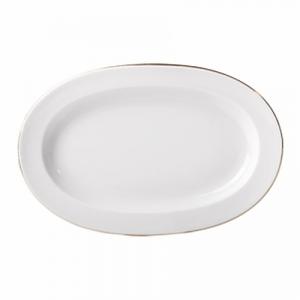 Lomonosov Porcelain Oval Platter Herring Dish Golden Ribbon 9.8