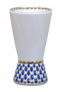 Russian Porcelain Porcelain Napkin Holder Youth Cobalt Net