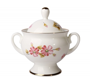 Lomonosov Imperial Porcelaine Bone China Sugar Bowl Classic-2 Enchantress 5.9 fl.oz/175 ml