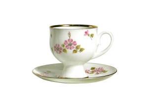 Bone China Coffee Set Cup and Saucer Enchantress 5.41 oz/160 ml
