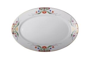 Lomonosov Imperial Porcelaine Oval Platter Moscow River 15.7