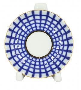 Lomonosov Porcelain Jam Dish Tulip Cobalt Cell 3.9