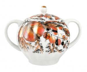Lomonosov Imperial Porcelaine Sugar Bowl Tulip My Garden 15 oz/450 ml