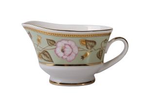 Lomonosov Porcelain Gravy Boat Youth Jade Background 6.76 fl.oz/200 ml
