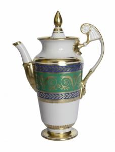 Lomonosov Imperial Porcelain Coffee Pot Alexandria Golden 52 21 fl.oz/620 ml