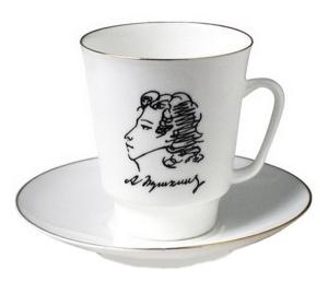Bone China Cup and Saucer May Pushkin 5.6 fl.oz/165 ml 2 pc