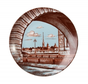 Decorative Wall Plate River, St.Petersburg 7.7