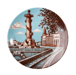 Decorative Wall Plate Rostral Column St.Petersburg 7.7