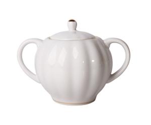Lomonosov Imperial Porcelain Sugar Bowl Tulip Snow White15 oz/450 ml