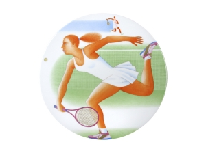 Decorative Wall Plate Summer Olympic Games Tennis 10.8
