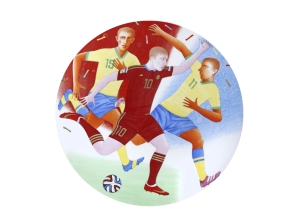 Decorative Wall Plate Summer Olympic Games Football 10.8