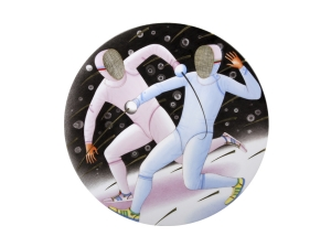 Decorative Wall Plate Summer Olympic Games Fencing 10.8