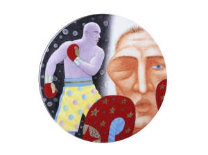 Decorative Wall Plate Summer Olympic Games Boxing Knockout 10.8