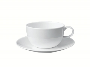 Imperial Porcelain Bone China Porcelain Tea Cup and Saucer Variation White 9.8 fl.oz/290 ml