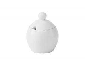 Lomonosov Porcelain Sugar Bowl Autumn Fall White 6.8 fl.oz/200 ml