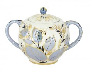 Lomonosov Imperial Porcelain Sugar Bowl Moonlight 15 oz/450 ml