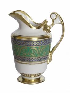 Lomonosov Imperial Porcelain Creamer Alexandria Golden 16.2 oz/480 ml
