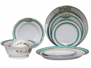 Lomonosov Porcelain Dinner Set North Aurora 24 pc