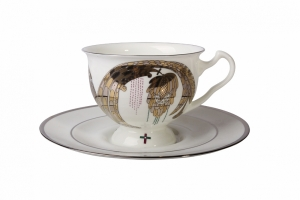 Aisedora Together Forever (2) 8.1 oz/240 ml Lomonosov Bone China Tea Set
