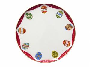 Easter Porcelain Cake Dish Platter 11.8