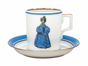 Porcelain Tea Cup 7.4 oz/220 ml Paris Style 1836 Lomonosov Imperial Factory