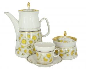 Lomonosov Porcelain Espresso/Coffee Set Youth Camomile Field 20 items
