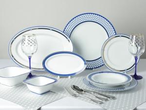 Lomonosov Porcelain Dining Set Service 24 items for 6 people European White Sea & Lomonosov Porcelain Dining Set Service 24 items for 6 people European