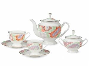 Lomonosov Porcelain Bone China Tea Set 6/14 Marietal