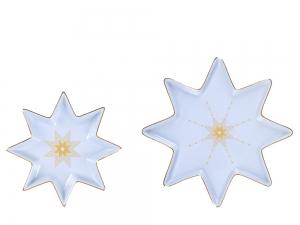 Lomonosov Porcelain Star Serving Platter Dish Set Azur