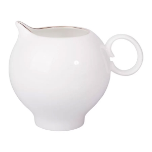 Lomonosov Porcelain Bone China Creamer Apple Golden Edge 7.3 fl.oz/215 ml