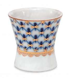 Lomonosov Porcelain Cobalt Net Egg Holder Cup