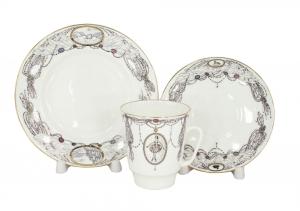 Lomonosov Imperial Porcelain Bone China Cup and Saucer May Ballet Swan Lake 5.6 fl.oz/165 ml 3 pc