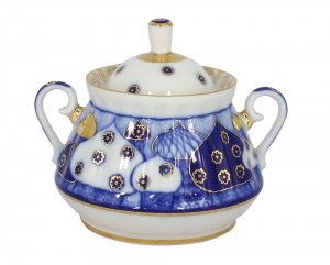 Lomonosov Imperial Porcelain Sugar Bowl Church Bells 10 oz/300 ml