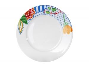 Lomonosov Porcelain Dinner Flat Plate Flowers 10.4
