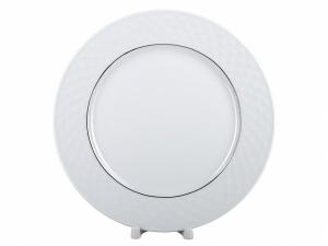 Lomonosov Porcelain Dinner Plate European-2 Platinum Omega Net 9.8