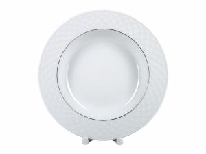 Lomonosov Porcelain Dinner Soup Plate European-2 Platinum Omega Net 8.9