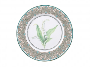 Lomonosov Porcelain Decorative Plate Lily of the Valley 10.6