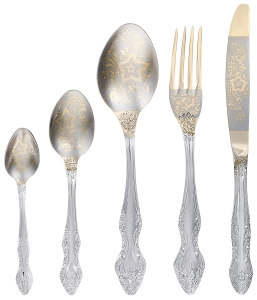 Flatware Stainless Steel Cutlery Set for 6 Golden Troika