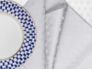 Lomonosov Porcelain Lomonosov Gift Set 6 Napkins Cobalt Net 17.7x17.7