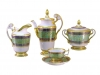 Lomonosov Porcelain Espresso/Coffee Set Alexandria Golden 21 pc