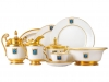 Lomonosov Porcelain 24-piece Cottage  Dinner Set for 6